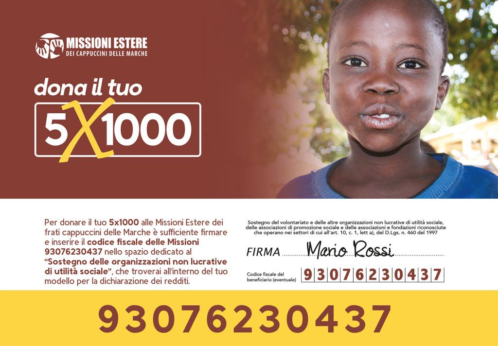 5X1000 - MISSIONI ESTERE CAPPUCCINI ONLUS RECANATI